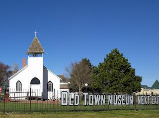Old Town Museum church, Burlington, Colorado