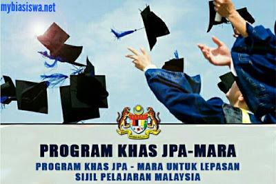 Biasiswa MARA 2018 Program Khas JPA MARA (PKJM)