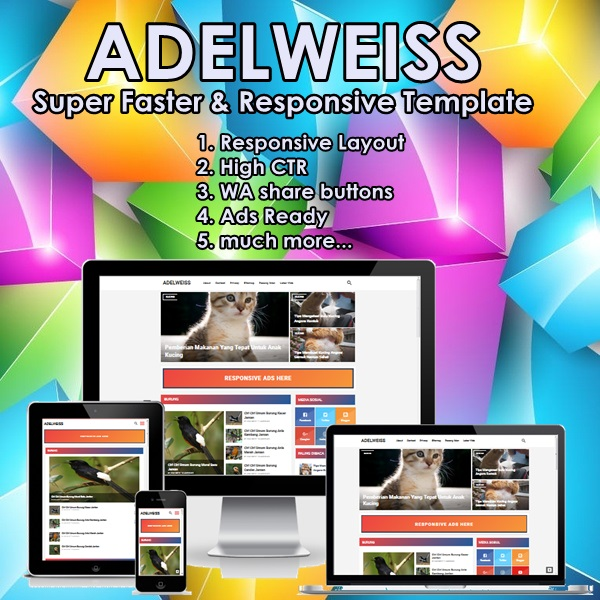 ADELWEISS Magz Super Fast and Responsive Free Blogger Template 2018