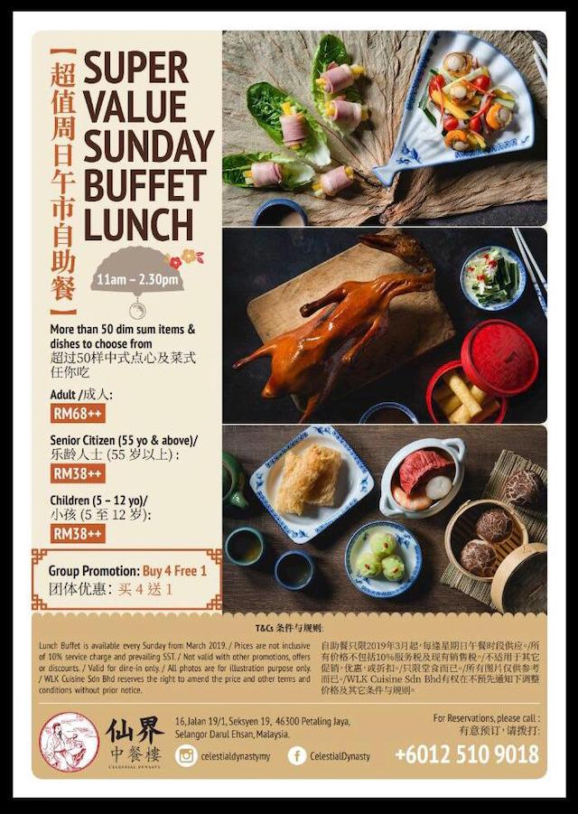 Super Value Sunday Buffet Lunch @ Celestial Dynasty, Petaling Jaya