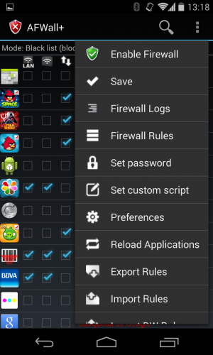 Firewall Tutorial on Android