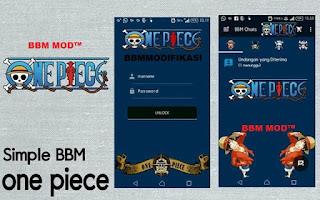 BBM Mod Apk One Piece v3.0.0.18 Terbaru
