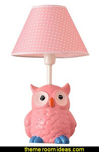 Owl Table Lamp owl theme bedroom decorating ideas - owl bedroom decor - Owl room decorations - owl themed baby nursery - Owls wall stickers - owl bedding - owl prints - owl posters - Owls Drawer Knobs - Owl decor - owl wall decor - little girl owl bedroom decor