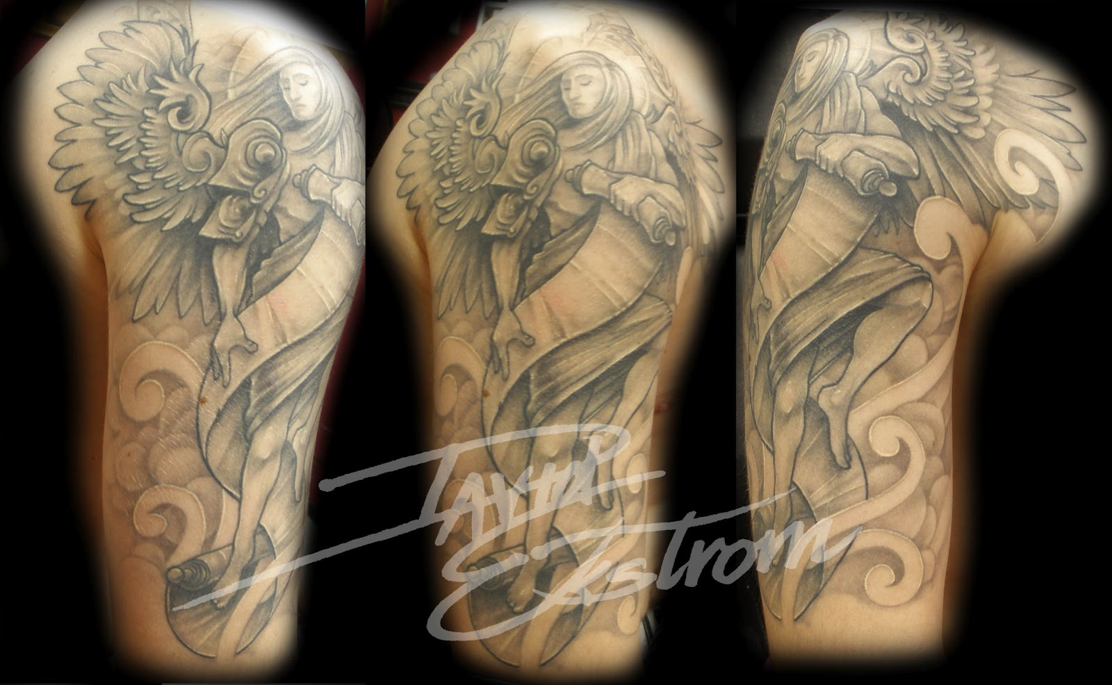 Syella Information Religious Tattoo Designs For Half Sleeve