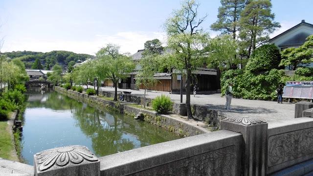 岡山県の倉敷美観地区の川