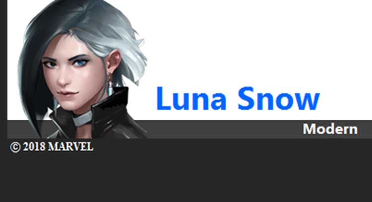 Luna Snow sang artis K-POP Marvel Future Fight