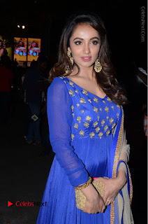 Telugu Actress Tejaswi Madivada Pos in Blue Long Dress at Nanna Nenu Na Boyfriends Audio Launch  0007.JPG