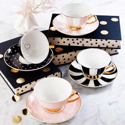 Autumn Fair Bombay duck tea cups