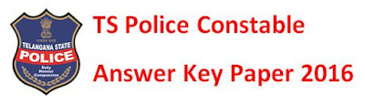 TS Police Constable Answer Key 2016 Paper