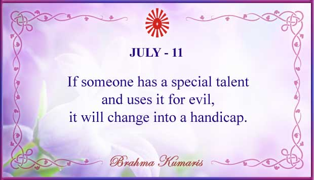 Thought For The Day July 11