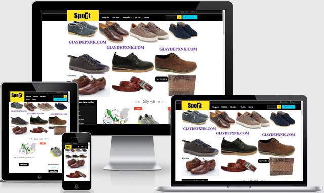 Templates blogspot bán giày thời trang