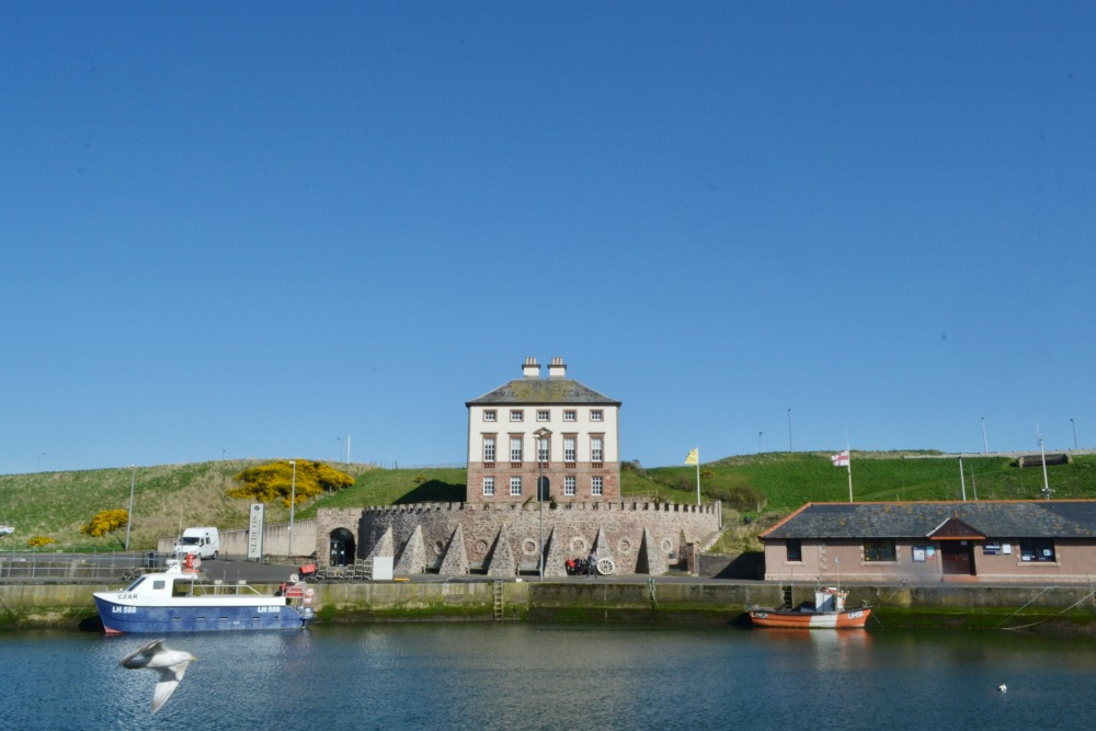 gunsgreen house eyemouth manor mansion scotland grand harbour boats by the sea seagull