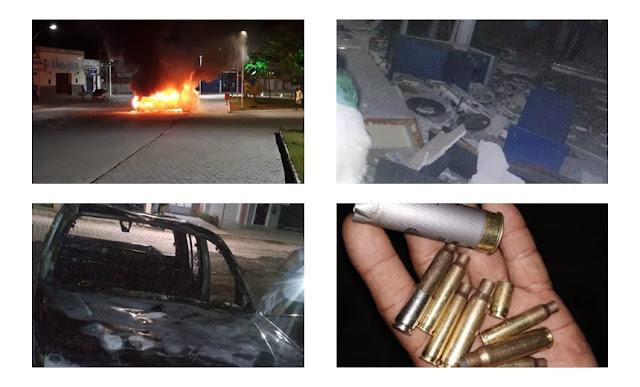 Resultado de imagem para Cerca de 20 assaltantes atacaram Bancos em Castro Alves FOTOS