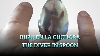 Buzo en la cuchara, CURVED MIRROR, The diver in  spoon