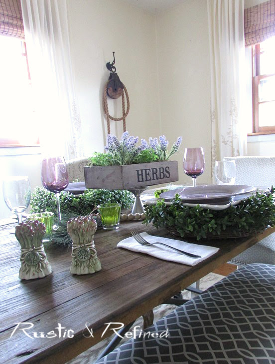 Dinner Table Setting for a Winter Table