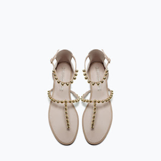 Zara Bobble Detail Sandals