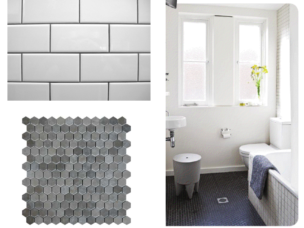 WEST END COTTAGE: Bathroom Floor Tiles Rethink