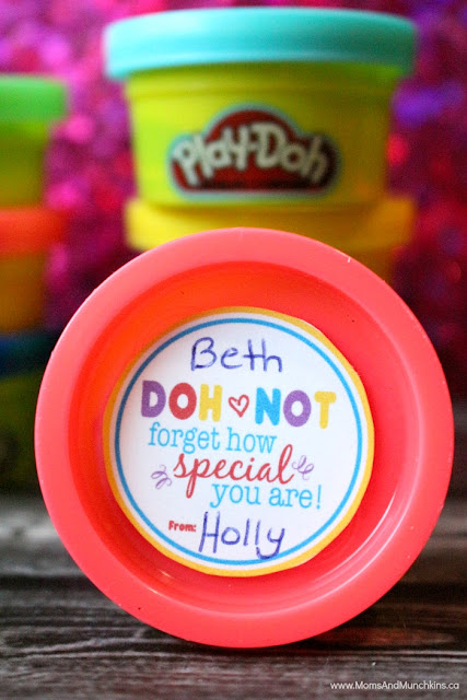 play-doh valentine cards