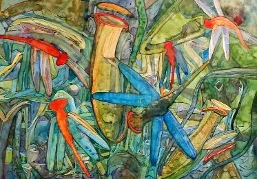 maamor jantan-馬來西亞藝術家, 獨特風格的畫作, 紋理和透明度的感覺, 用水彩畫出了田園詩般的漁村。 - ☆平平.淡淡.也是真☆  - ☆☆milk 平平。淡淡。也是真 ☆☆