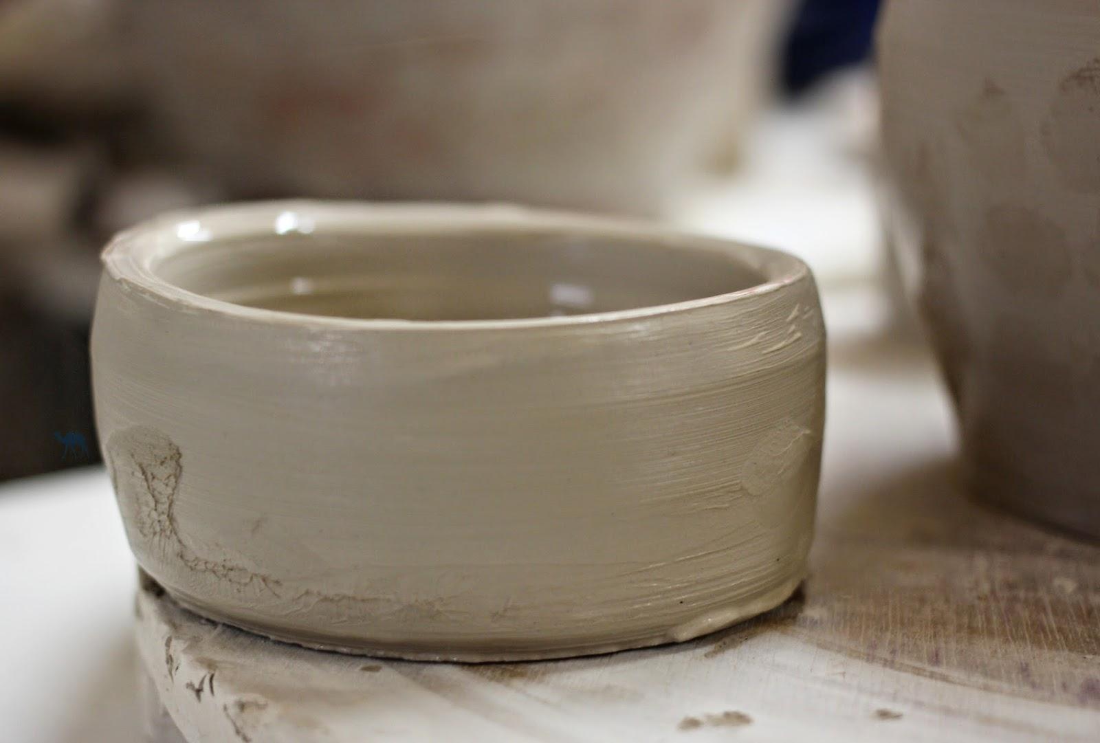 Le Chameau bleu - Seconde réalisation de poterie