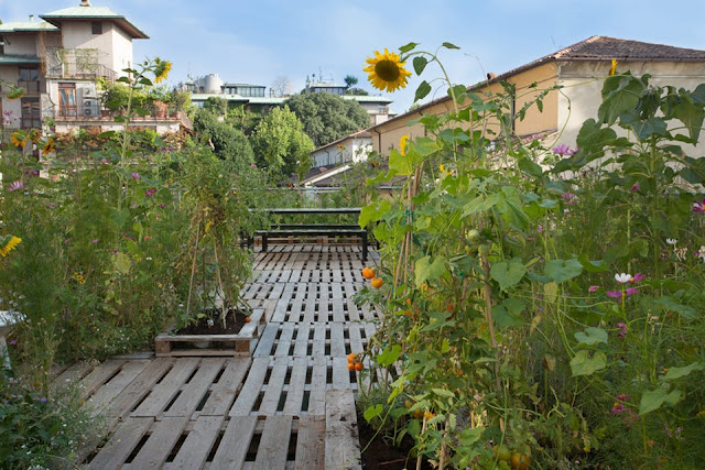 Mobile Dachgärten in Mailand - endlich ein Garten in der Stadt!