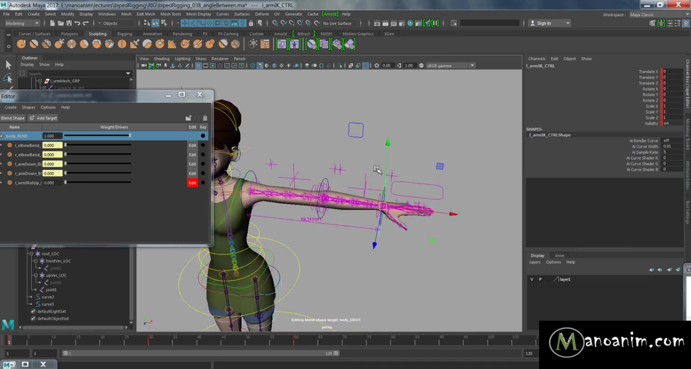 Rig A Perfect Wrist Rotation In Maya Using Angle-Based
