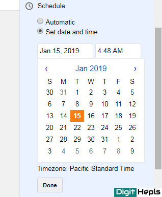 How to Schedule Blogger Post
