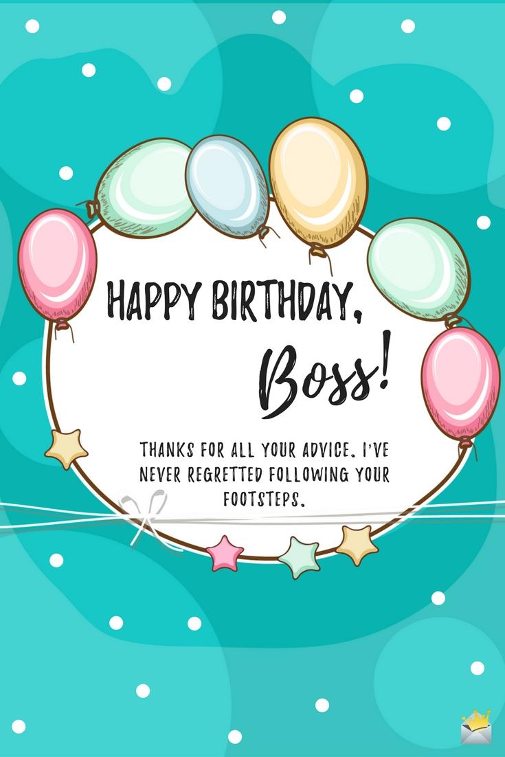 happy birthday boss