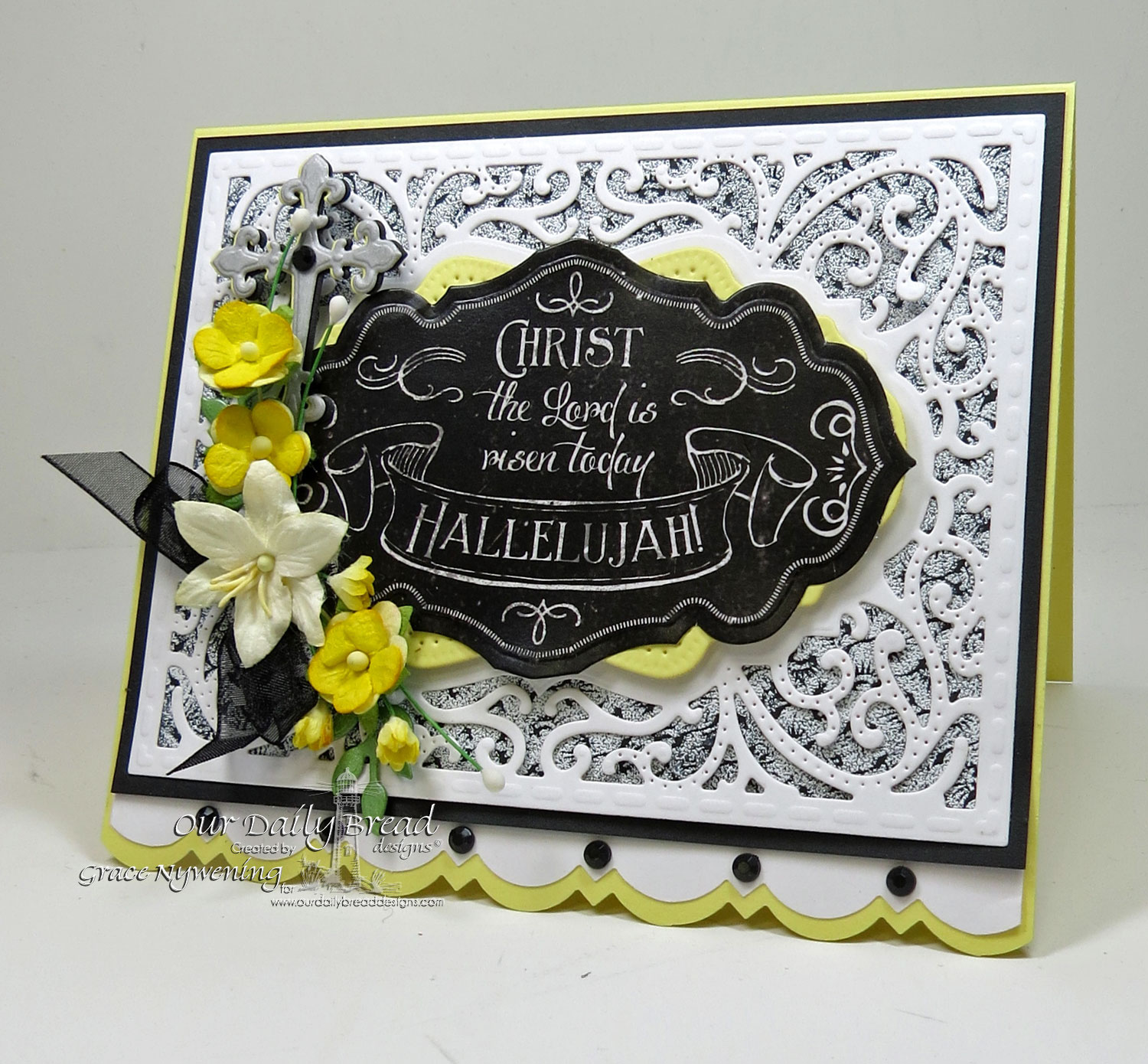 Stamps - Our Daily Bread Designs Chalkboard Fan Background, ODBD Custom Ornamental Crosses Die, ODBD Custom Vintage Flourish Pattern Die, ODBD Chalkboard Paper Collection,ODBD Custom Antique Labels and Border Dies