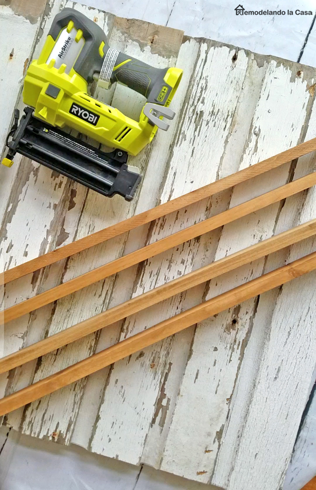Adding a frame to a wall board made out of wooden siding