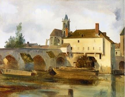 Moret sur Loing Corot 1822