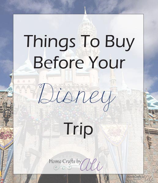 items to buy before your disney trip