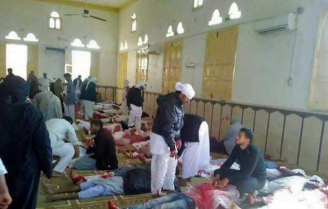 """Serangan Bom Dimasjid Sinai """"kairo"""" tewaskan 235 orang."""