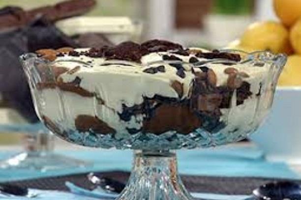 Trifle de chocolate rapido