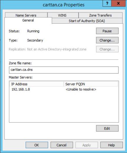 Figure 9: Step 9 of migrating a Linux BIND name server to a Windows Server DNS server.