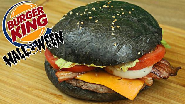 hamburguesa negra para halloween