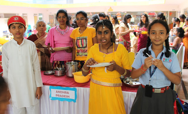 Trio Students and parents join hands to celebrate Regional Languages day