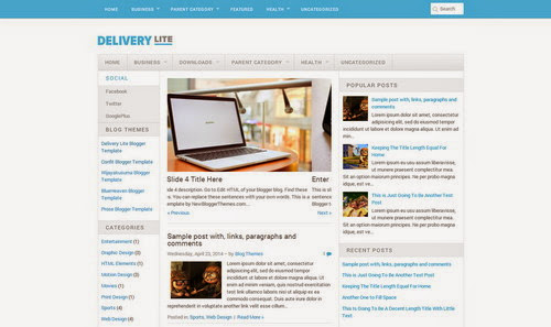 delivery lite responsive blogger template