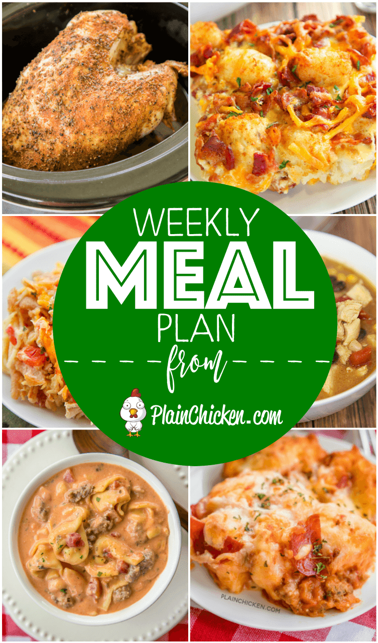 What S For Dinner Weekly Meal Plan A Quick And Easy Recipe Everyday Of Hy Sunday