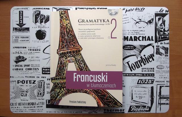 """Recenzje #3 - """"Francuski w tlumaczeniach cz.2"""" - okładka ksiażki - Francuski przy kawie"""