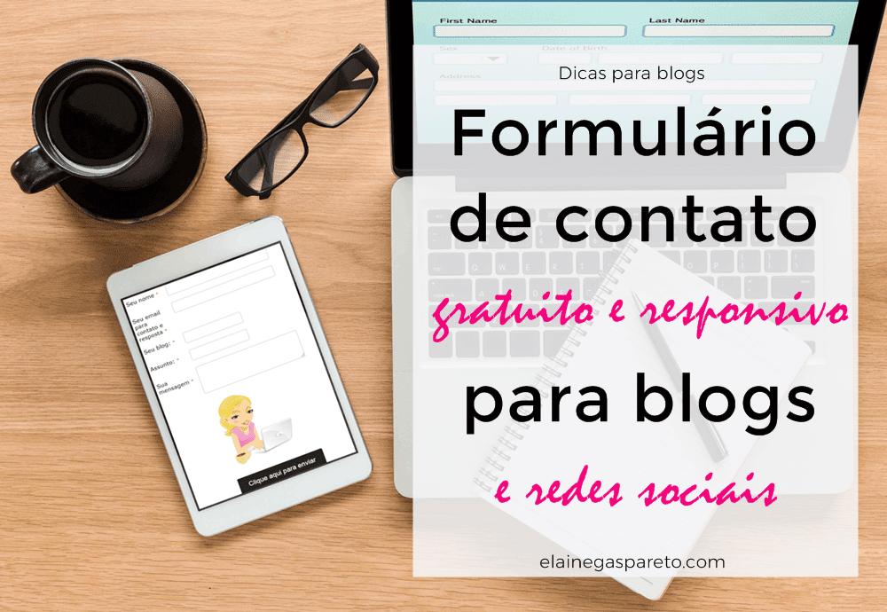Como criar um formulário de contato gratuito para o blog