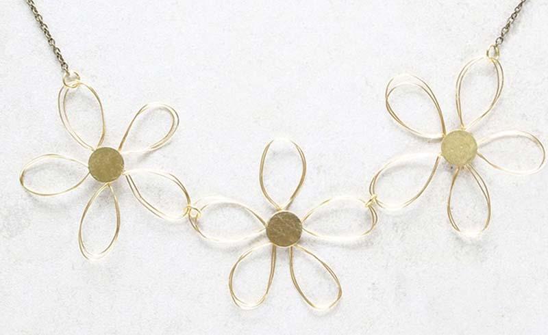 DIY Floral Bib Necklace