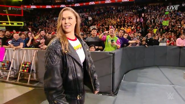 Ronda Rousey Royal Rumble 2018 wwe debut   StrengthFighter.com