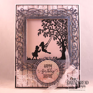Our Daily Bread Designs Stamp Set: Sister in Christ, Paper Collection: Romantic Roses, Custom Dies: Flourishy Frame, Pierced Rectangles, Squares, Pierced Circles, Filigree Circles
