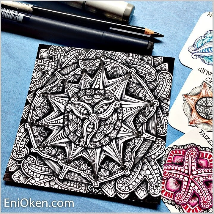 07-Zendala-Eni-Oken-Color-and-Black-and-White-Zentangle-Drawings-www-designstack-co
