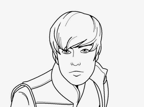 Handsome Man Face Drawing Sketch Coloring Page