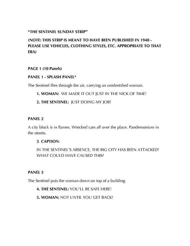 comic script example