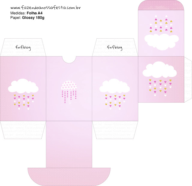 Blesing Rain for Girls Free Printable Box.