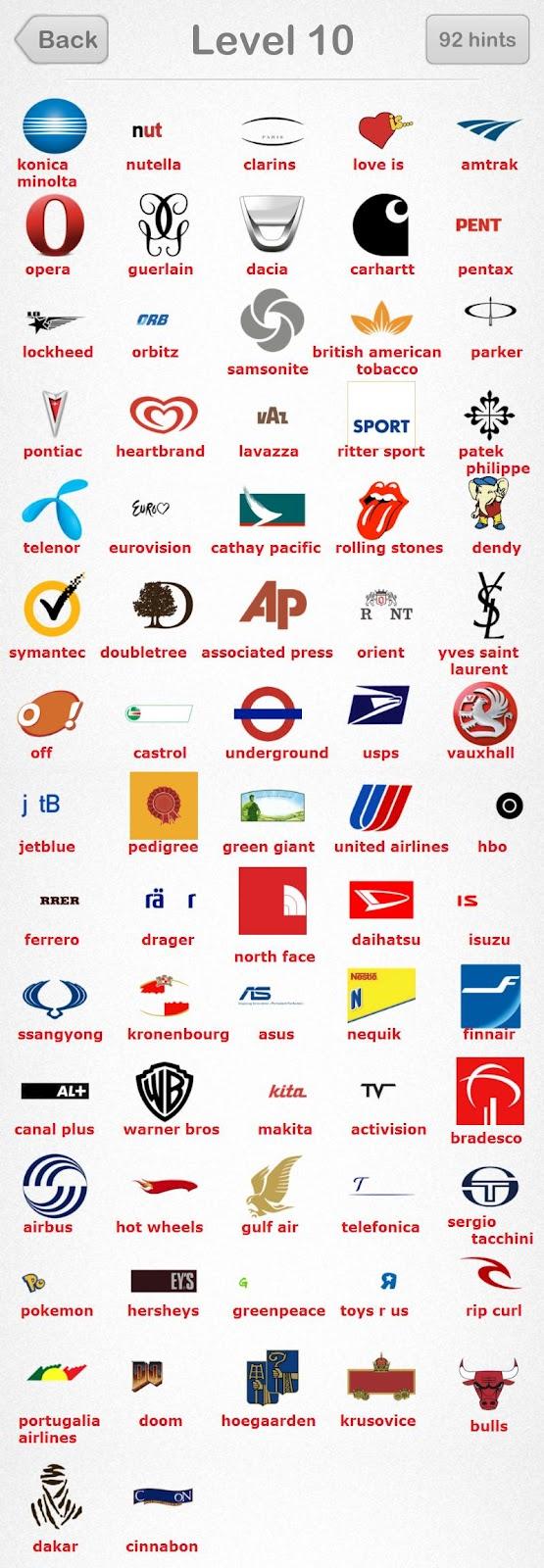 Logos Quiz iPad Game: LogosQuiz Android Level 10