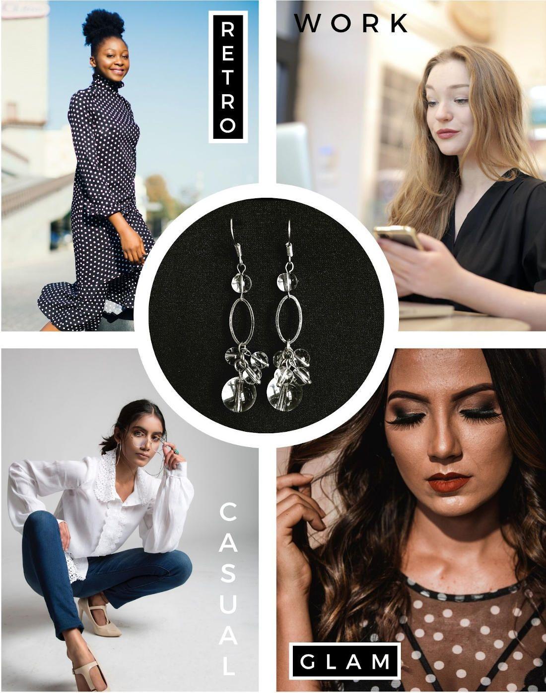 fashion cluster earrings
